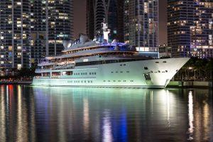 Mega Yacht in the City