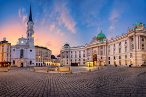 Vienna, Austria. Cityscape Image Of Vienna, Austria During Sunrise.