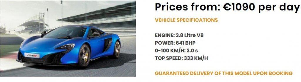 Angebot_McLaren 650S